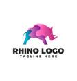 rhino gradient modern logo vector image vector image