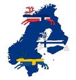 Scandinavian reindeers vector image vector image
