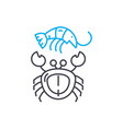 seafood linear icon concept seafood line vector image