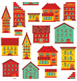 seamless flat house pattern-02 vector image vector image