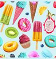 seamless pattern vivid summer sweets vector image