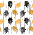 seamless pattern with oak leaf orang and vector image vector image