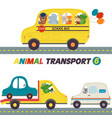 set of isolated transports with animals part 6 vector image vector image