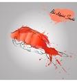 shrimps ebi sushi japan food vector image vector image
