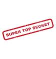 Super Top Secret Rubber Stamp vector image
