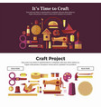 time to make craft projects promotional internet vector image