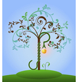 Tree of knowledge colored vector image vector image