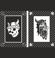 vikings lucky cards vector image vector image