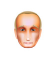 vladimir putin isolated on white icon october 30 vector image vector image