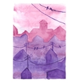 Watercolor night town vector image vector image