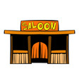 western saloon icon icon cartoon vector image vector image