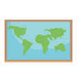 world map cartoon vector image