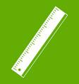 Yardstick icon green vector image