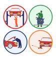 car repair and maintenance vehicle workshop vector image