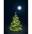 decorated Christmas tree on vector image