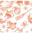Decorative seamless monochrome pattern for vector image