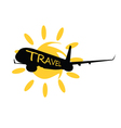travel with airplane vector image