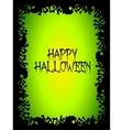 Halloween skull and bones poster vector image