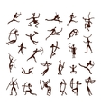 Rock paintings ethnic people sketch for your vector image