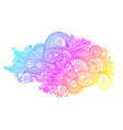 hand drawing paisley design of rainbow flower vector image