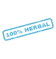 100 Percent Herbal Rubber Stamp vector image vector image