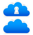 3d clouds for it security or meteorology concept vector image vector image