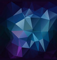 abstract polygonal square background sapphire blue vector image vector image