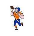 American Football Quarterback Throw Ball Isolated vector image vector image