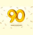 anniversary golden ballons number 90 vector image