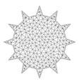 bacterium mesh network model vector image vector image