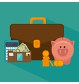 Bank money and investment vector image vector image