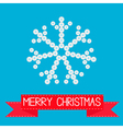 Big snowflake from little buttons Pink ribbon vector image vector image