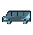 bus vehicle public isolated icon vector image vector image