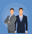 businesmen half body vector image