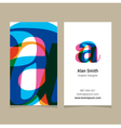 business card letter vector image