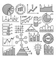 business charts graphics and vector image vector image