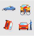 Car crash collision traffic insurance safety vector image