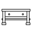 carpenter work table icon outline style vector image