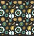 christmas gold folk ornament seamless pattern vector image