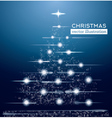 Christmas Tree Made from Letters and Neon Lights vector image vector image