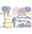 clip arts sweet wedding color vector image