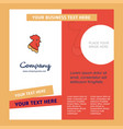 cock company brochure template busienss template vector image vector image