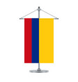 colombian flag on the metallic cross pole vector image