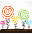 colorful swirl tree vector image vector image