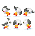 cute dog character action vector image vector image