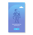 cute robot holding clipboard loading process vector image