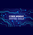 cyber monday sale poster bunner invitation vector image