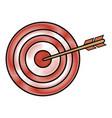 dartboard with arrow vector image vector image