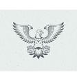 Eagle logo emblem template mascot vector image vector image
