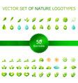 Ecology icons nature logo vector image